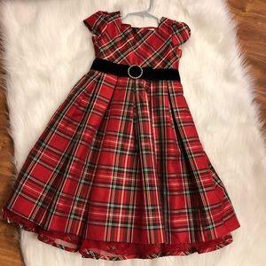 Girls Plaid Holiday Dress